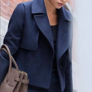 Cuyana Cropped Wool Coat